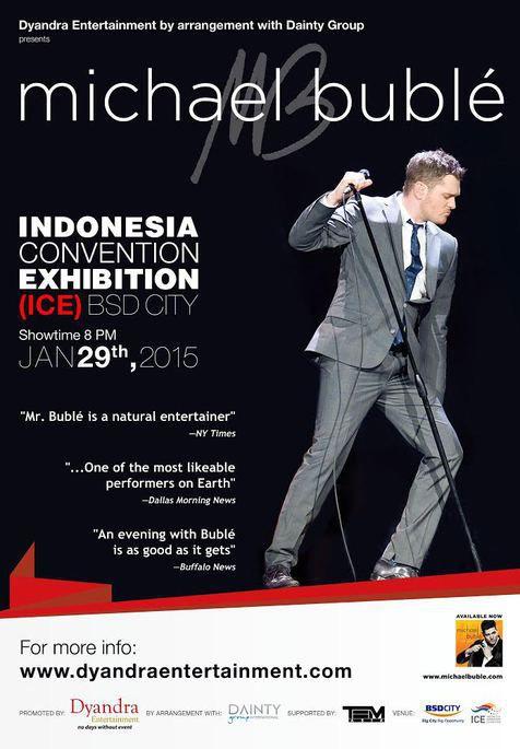 Michael Buble konser bulan Januari @foto: Kapanlagi.com®