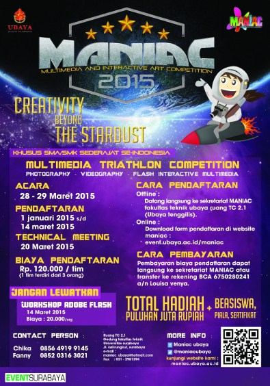 Multimedia and Interactive Art Competition (MANIAC) 2015