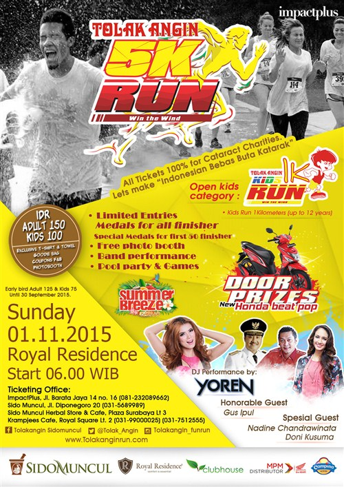 "TOLAK ANGIN 5K RUN ""Win The Wind"""