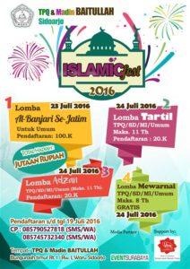 Islamic Fest 2016 TPQ & Madin Baitullah