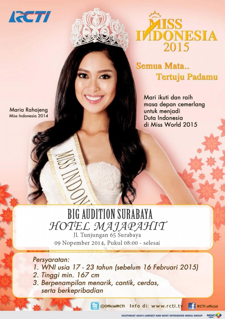 Big Audition Miss Indonesia 2015