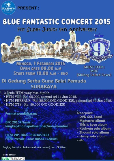 "Blue Fantastic Concert 2015 ""Super Junior 9th Anniversary"""