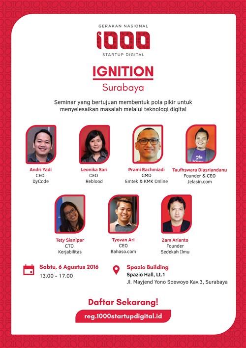 Gerakan Nasional 1000 Startup Digital dan Ignition Surabaya