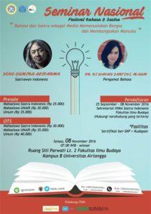 Seminar Nasional : Festival Bahasa & Sastra 2016